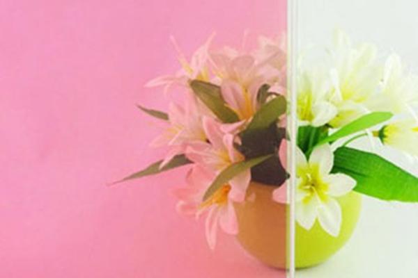 桃粉色玻璃膜